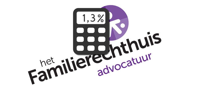 Familierechthuis alimentatie indexatie 2016 1,3%